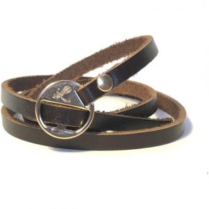 Leathure triple strap signature bracelet